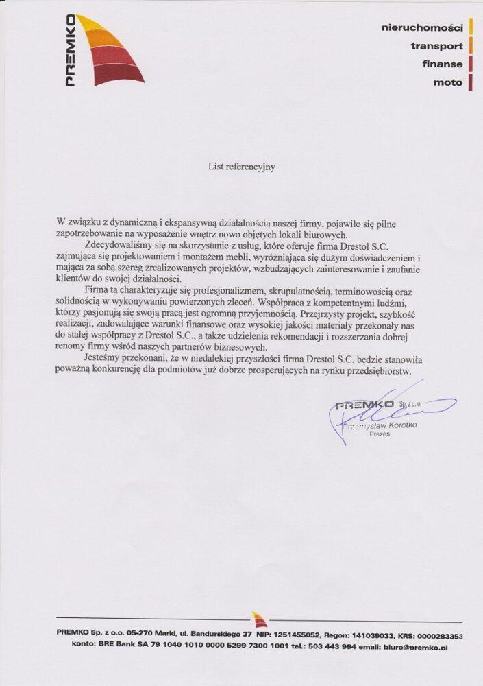 Referencje Premko